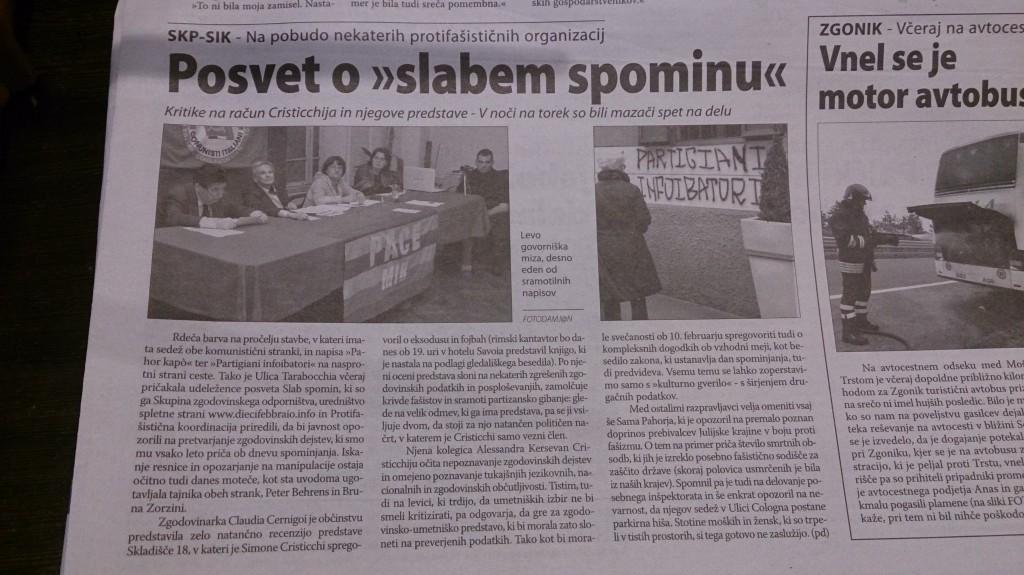 Primorski Dnevnik, 19/2/2014