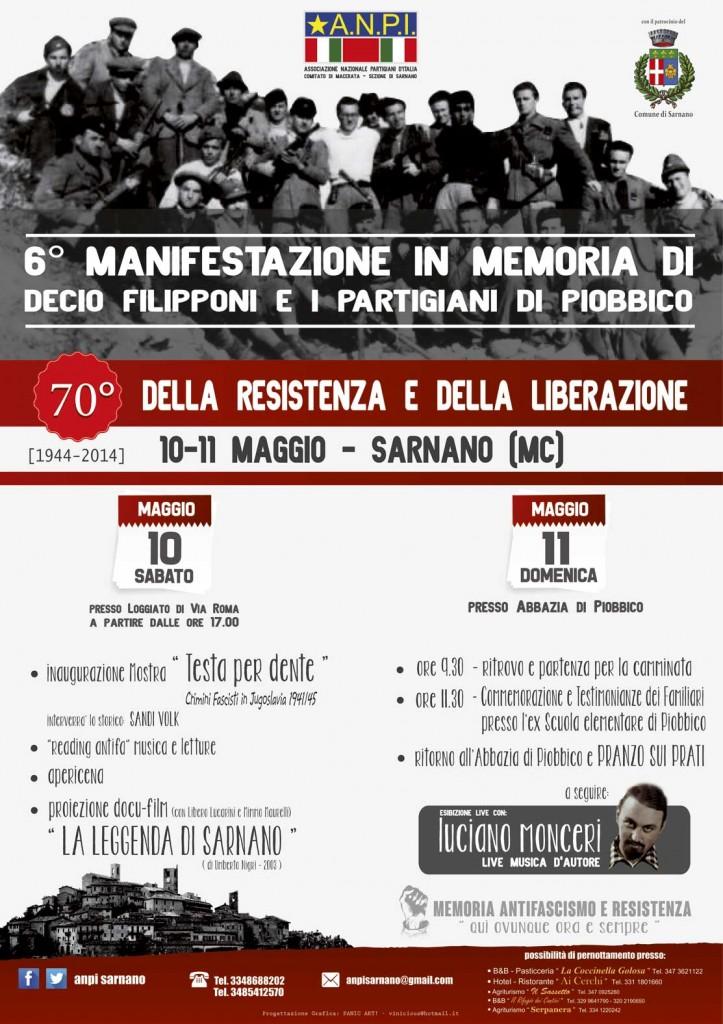 Il programma delle iniziative a Sarnano, 10-11 maggio 2014