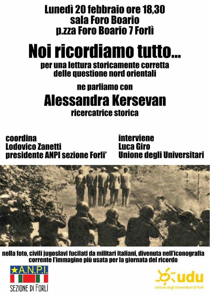 Locandina Forlì 20.02.17