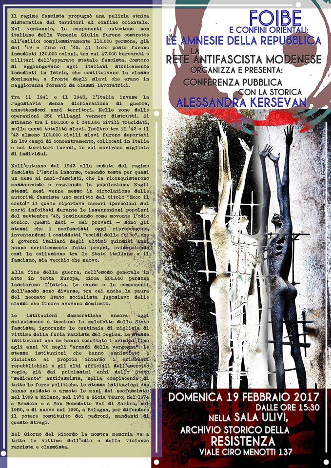 Locandina Modena 19.02.17
